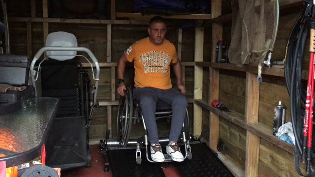 Craig in his shed!